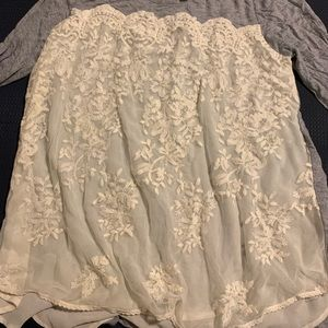 Lace front long sleeve T